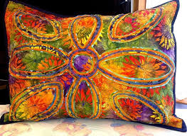 319 best Quilts - Pillows images on Pinterest | Creative ideas ... & Quilting: Stitch & Slash Pillow no. 2 - Love these colors for a batik Adamdwight.com