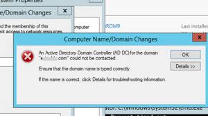 Fix Active Directory Domain Controller Could Not Be