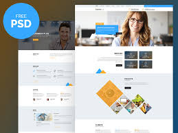 Free Psd Website Templates Template Business