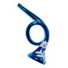 Trompete 10cm Thüringer Glas Weihnachtsschmuck