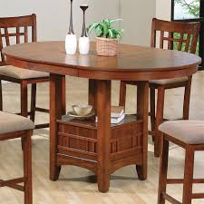 For Kitchen Tables Empire Counter Height Dining Table With Pedestal Base Belfort