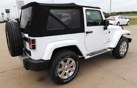 jeep wrangler white sahara. 2013 jeep wrangler sahara suv rear bumper spare tire soft top white _