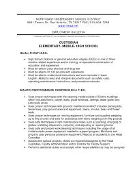 Custodian Resume It Cover Letter Sample With Awesome Collection Of