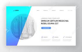 Chemistry Cover Page Designs Pharmaceutical Landing Page Template Modern Web Page Design