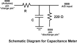 arduino capacitancemeter experimental setup