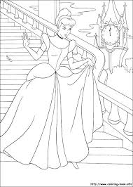 disney cinderella printable coloring pages page for kids