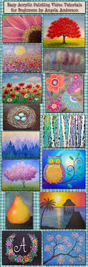 acrylic painting tutorials by angela anderson you playlists for beginner and interate painters