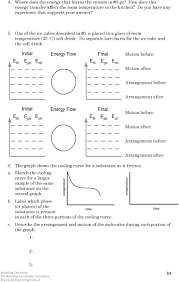 Chemistry Unit 3 Reading Assignment Energy And Kinetic