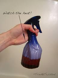 heat vinegar but watch the heat tried twisted
