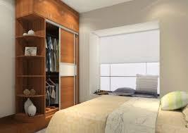 bedroom  creative brown solid wood modern wardrobe design bedroom