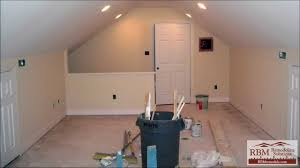 Pictures Of Finished Attics Finishing An Attic To Living Space Youtube