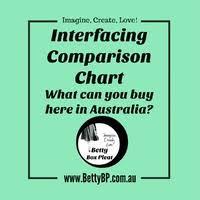 Australian Interfacing Comparison Chart