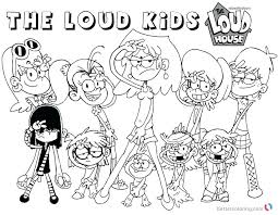 Loud House Coloring Pages Household Download This Page Nickelodeon