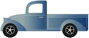 Blue truck clipart collection