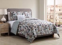 better homes and gardens fl bouquet 4 piece bedding duvet cover set shams and decorative pillow included com