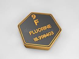 Fluorine - F - Chemical Element Periodic Table Hexagonal Shape ...