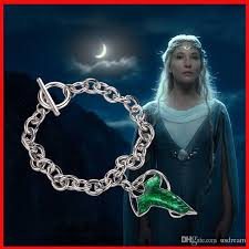 lord of the rings leaf pendants bracelet elven fellowship foluoduo wizard green leaves charm bracelets bangle cuff statement jewelry 160517 whole charm