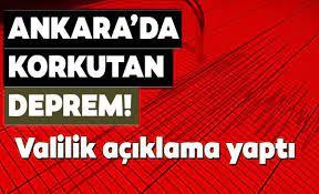 Son Dakika Ankara'da Deprem! 10 Ocak Ankara depremi şiddeti!