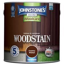 Johnstones Interior Exterior Woodstain Country Walnut 2 5l