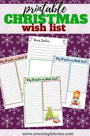 Blank Christmas List Free Christmas Wish List And Letter To Santa Printables