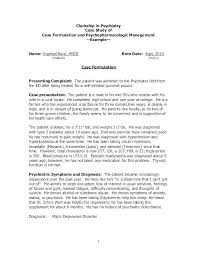 Clinical Case Study Template How To Write A Free Format
