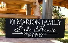 lake house sign lake house decor custom lake house