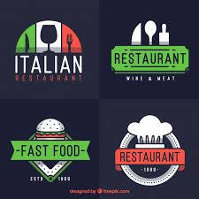 Italian Logos Set Of Modern Logos For Italian Restaurant Vector Free