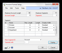 Great Plains Chart Of Accounts Table Creating Your Microsoft Dynamics Chart Of Accounts