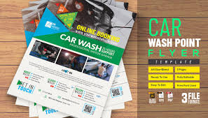 Car Wash Flyer Template - Photoshop Action