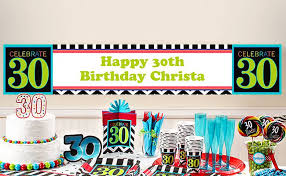 custom happy birthday banner custom 30th 40th 50th milestone birthday banners party city