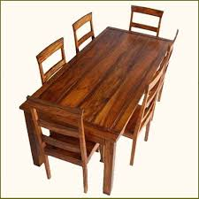 appalachian rustic 7 pc dining table and chair set indian rosewood handmade s