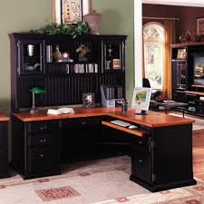 l shaped desk with hutch home office awesome home office design with corner black