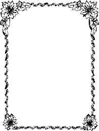 花のイラストフリー素材フレーム枠no007白黒四隅花