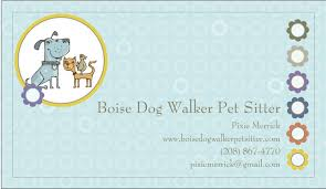 Pet Sitter Business Cards Boise Dog Walker Pet Sitter Business Card Yelp