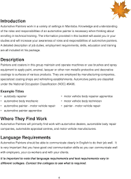 Job Roles And Responsibilities In Canada Automotive