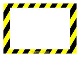 Attention template dialog bubble in flat style on white. Editable Warning Danger Sign Templates Sb10387 Sparklebox
