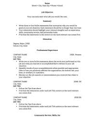 Objective For Resume College Student Graduate Template Best In