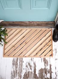 diy wood doormat themerrythought