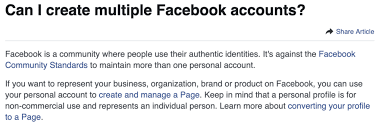 one facebook profile agorapulse