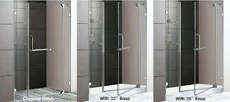 glass shower door 48 frameless hinged shower door