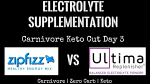 electrolyte supplementation zipfizz vs ultima carnivore keto cut day 3
