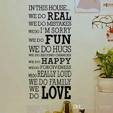 house rule we do real fun happy love es and sayings wall decor decals large vinyl letters wall stickers wall stickers home decor e wall decals
