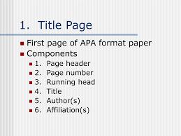 Ppt Apa Format Powerpoint Presentation Id157035