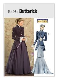 Simplicity Patterns Costumes Simple B48 Early 48thCentury Jacket and Skirts Sewing Pattern