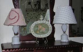 vintage milk glass lamps idea decoration