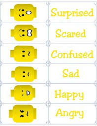 Lego Feelings Chart Free Printable Flashcards Emotion Flash Cards Lego