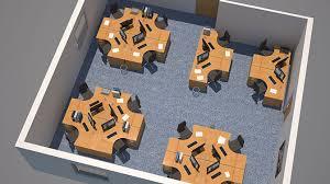 office space planning design. 3D Visualisation Of A Space Planned Office Planning Design