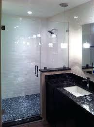 half shower door inline glass doors