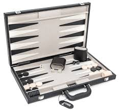 cambor 2025 genuine backgammon set genuine leather covered case w dice cups 18 x 12 folded