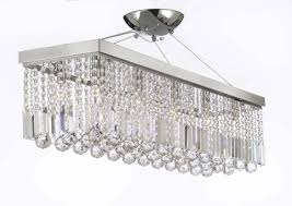 light contemporary crystal chandelier rectangular